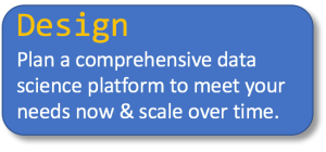 Design Plan a comprehensive data science platform to meet your needs now & scale over time.